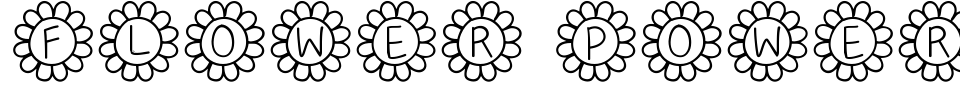 Anteprima - Font Flower Power