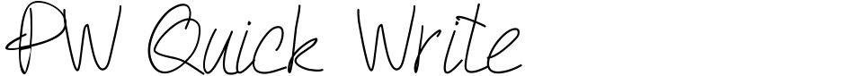 Vorschau der Schriftart - PW Quick Write