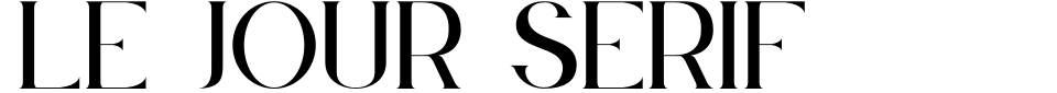 Le Jour Serif Font Preview