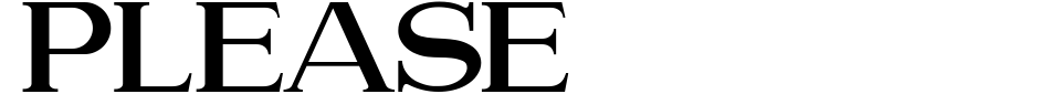 Please [Haksen Studio] Font Preview