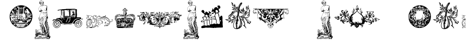Visualização - Fonte Cornucopia of Dingbats Four