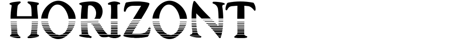 Horizont Font Generator Preview