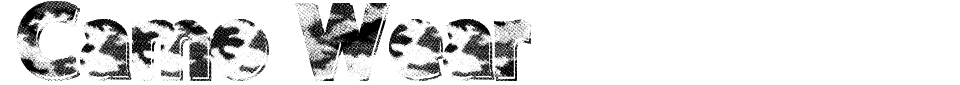 Camo Wear Font Preview