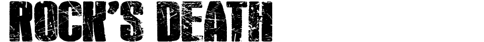 Anteprima - Font Rock
