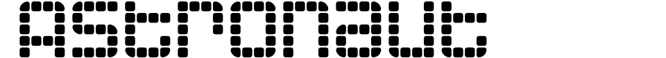 Astronaut Font Preview