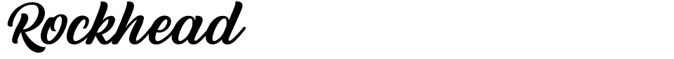 Anteprima - Font Rockhead