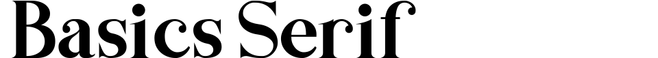 Basics Serif Font Preview