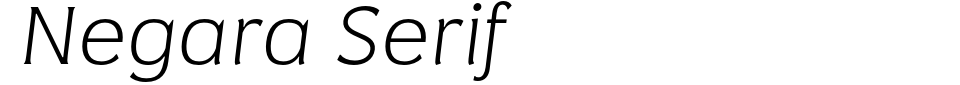 字体预览:Negara Serif