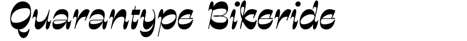 Quarantype Bikeride Font Preview