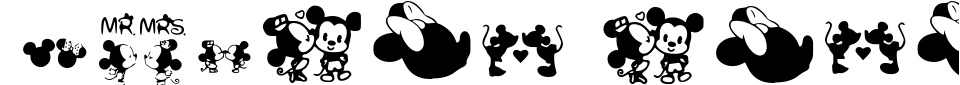 Anteprima - Font Mickey Love