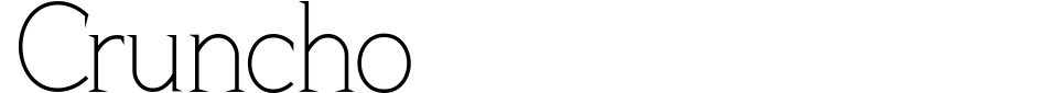 Cruncho Font Preview