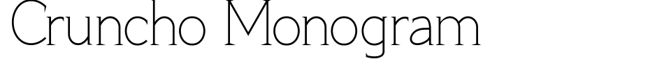 Aperçu de la police d écriture - Cruncho Monogram