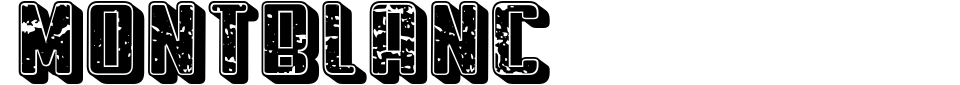 Montblanc [Vladimir Nikolic] Font Preview