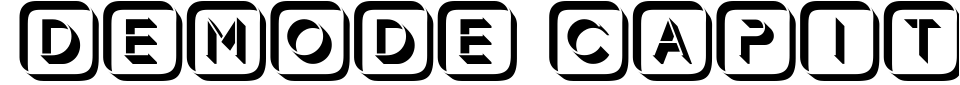 Aperçu de la police d écriture - Demode Capitals
