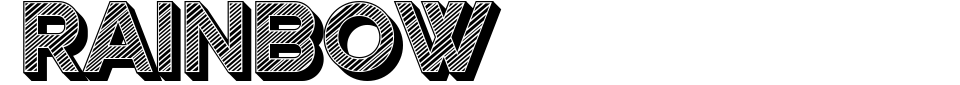 Rainbow [Vladimir Nikolic] Font Preview