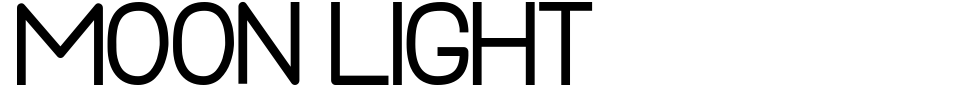 字体预览:Moon Light [Mytype Studio]