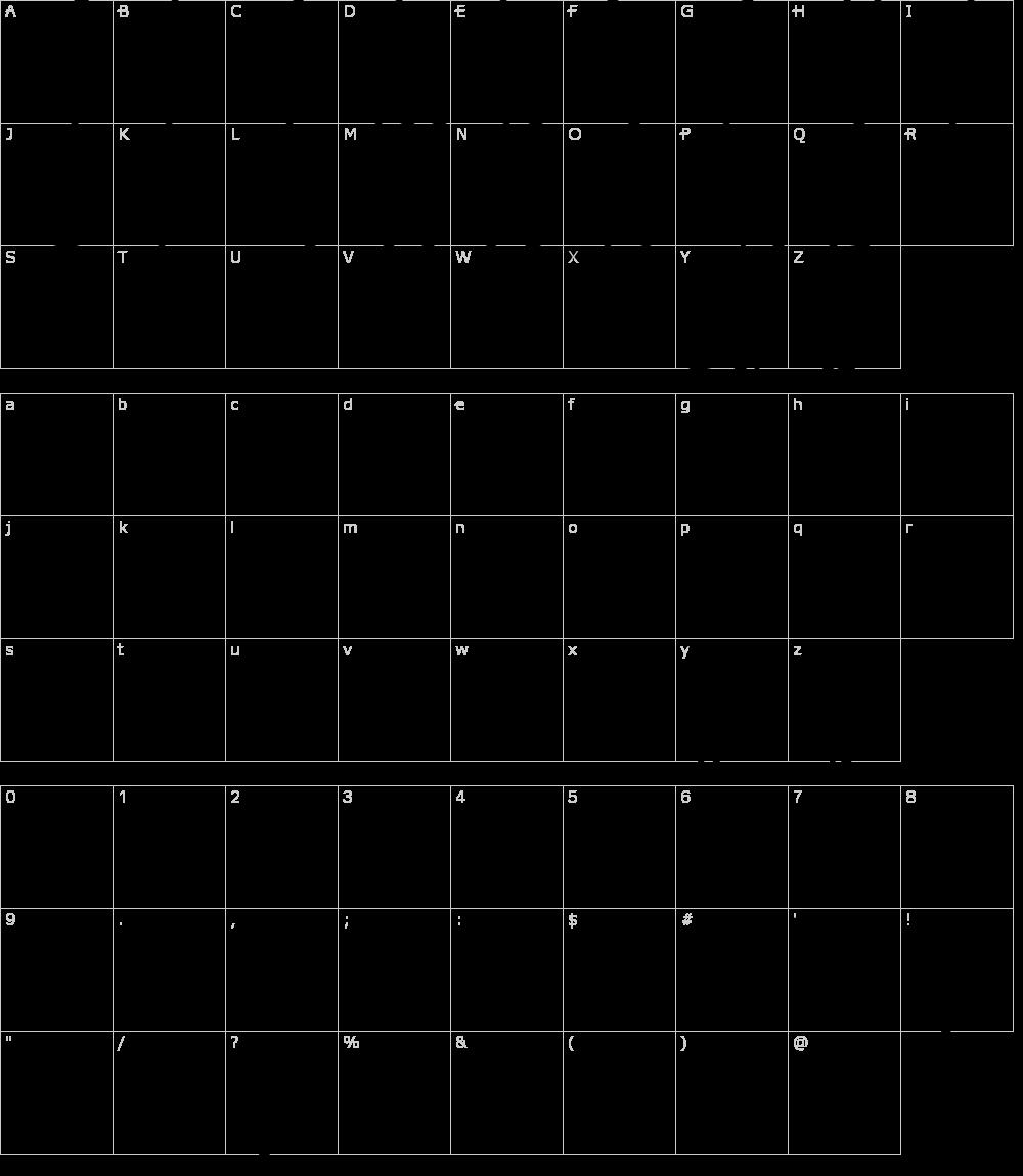 Caratteri del Font - Lafayet Scripts