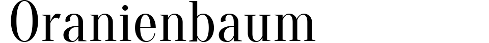 Oranienbaum Font Preview