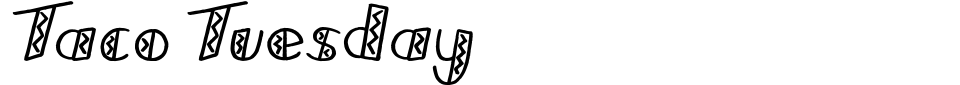 Anteprima - Font Taco Tuesday