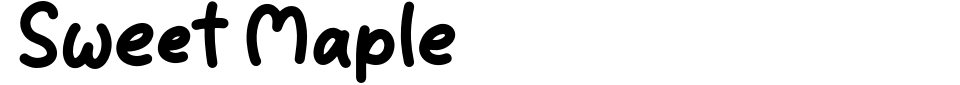 Visualização - Fonte Sweet Maple