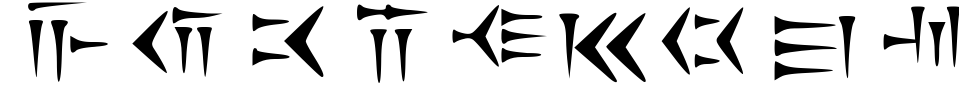 Cunieform Font Preview