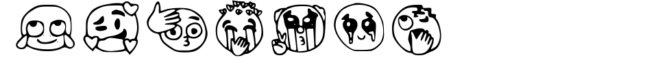 Emojis Tiktok Font Preview
