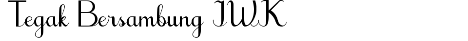 Vorschau der Schriftart - Tegak Bersambung IWK