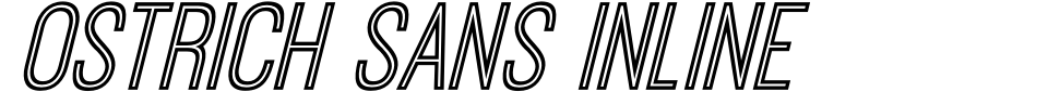 Ostrich Sans Inline Font Preview