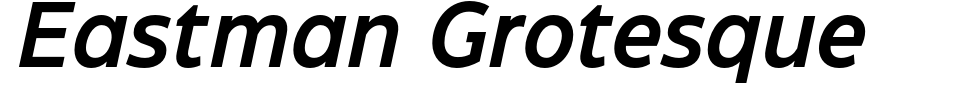 Eastman Grotesque Font Preview