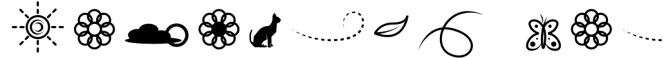 Vista previa - Fuente Lithunoa Dingbats