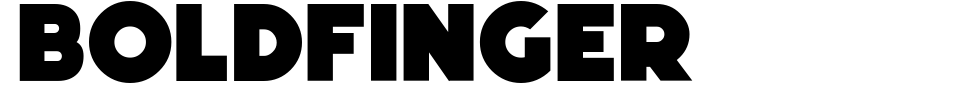 Boldfinger Font Preview