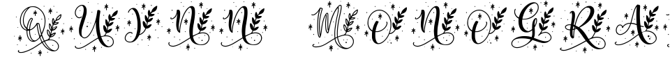 Vista previa - Fuente Quinn Monogram