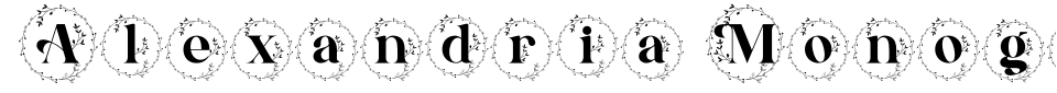 Vista previa - Fuente Alexandria Monogram