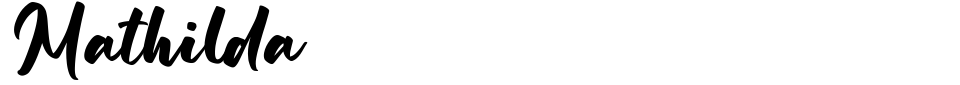 Mathilda [Hanzel Space] Font Generator Preview