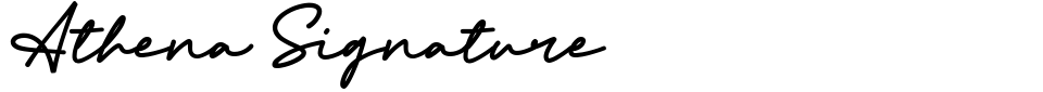 Athena Signature Font Preview