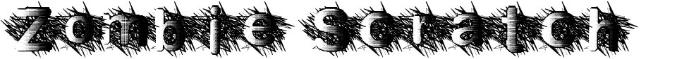 Vista previa - Fuente Zombie Scratch