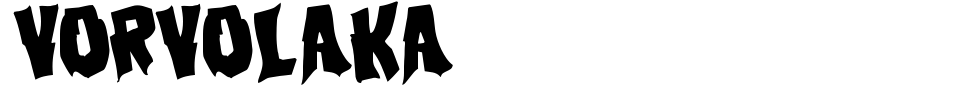フォントプレビュー:Vorvolaka