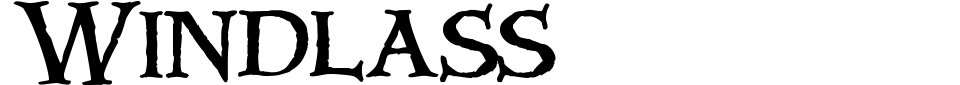 Windlass Font Preview