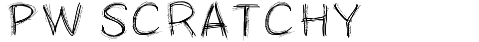 Vorschau der Schriftart - PW Scratchy