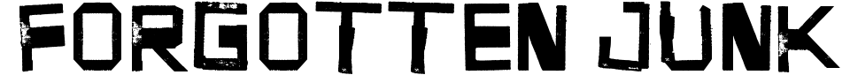 Anteprima - Font Forgotten Junk