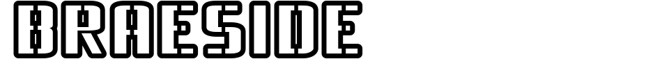 Braeside Font Generator Preview