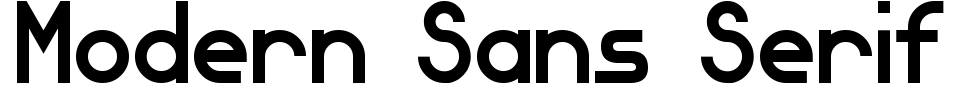 Anteprima - Font Modern Sans Serif 7