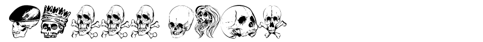 Skull Font Font Generator Preview