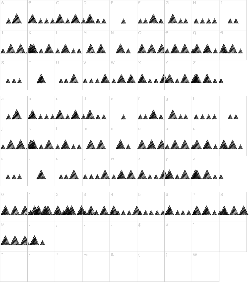 Morse Mountain Code Font Download