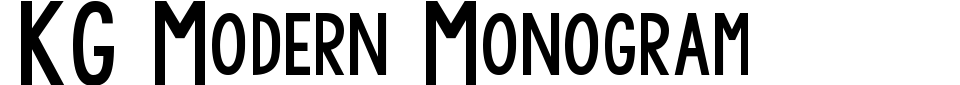 KG Modern Monogram Font Generator Preview