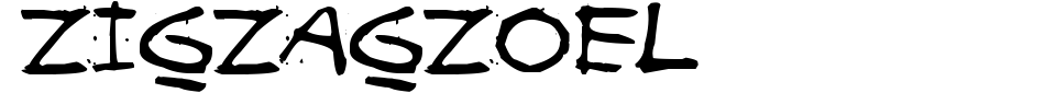 Vorschau der Schriftart - Zigzagzoel