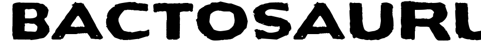 Bactosaurus Font Preview