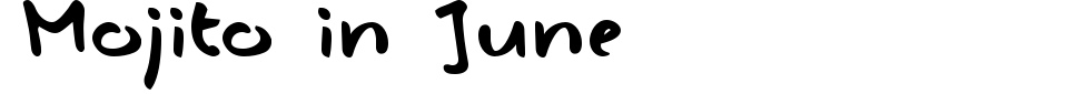 Mojito in June Font Preview