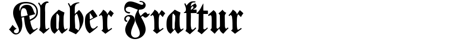 字体预览:Klaber Fraktur