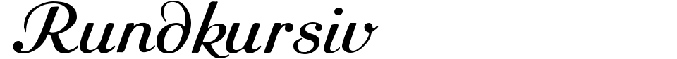 Rundkursiv Font Preview
